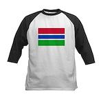 Gambia Flag T Shirts Kids Baseball Jersey