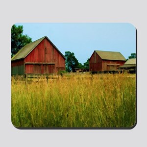 Farm Field with Red Barns Mousepad