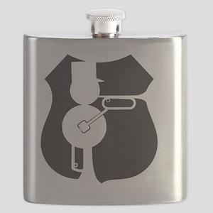 UP Railmen Alumni Logo Black on White Flask
