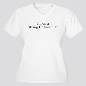 String Cheese diet Women's Plus Size V-Neck T-Shir