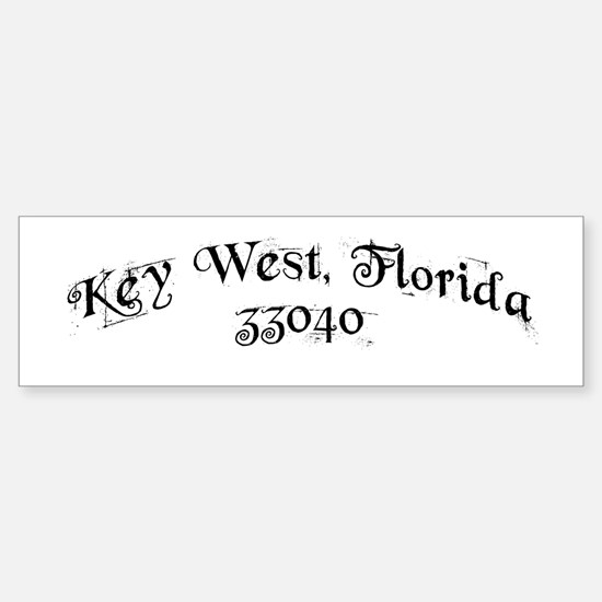 Key West, Florida 33040 Bumper Bumper Bumper Sticker