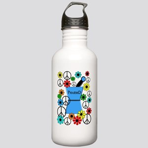 pharmd iPhone blue Stainless Water Bottle 1.0L