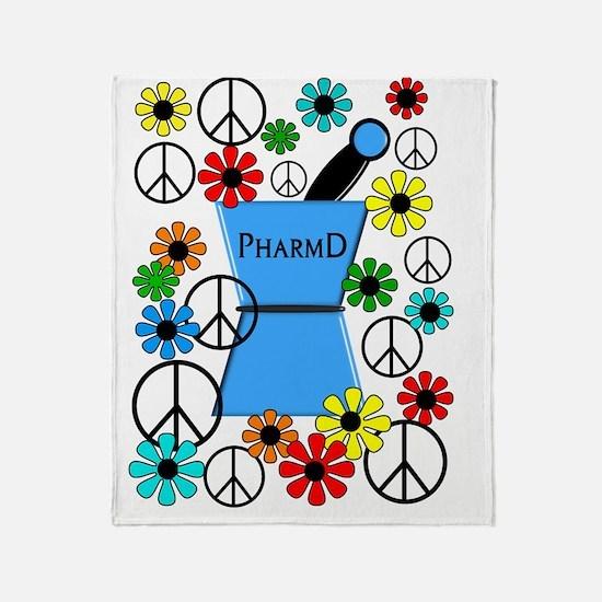 pharmd iPhone blue Throw Blanket
