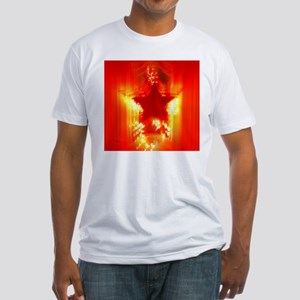 Red Christmas star Fitted T-Shirt