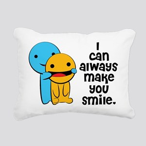 Make You Smile Rectangular Canvas Pillow
