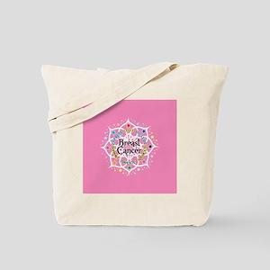 Breast Cancer Lotus Tote Bag