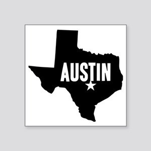 "Austin, TX Square Sticker 3"" x 3"""