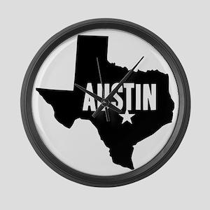 Austin, TX Large Wall Clock