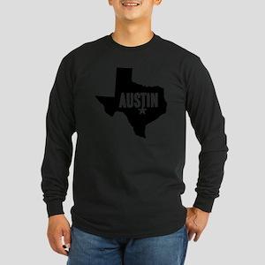 Austin, TX Long Sleeve Dark T-Shirt