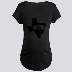 Austin, TX Maternity Dark T-Shirt