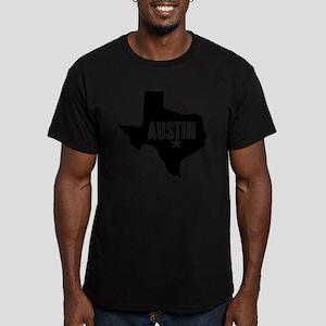 Austin, TX Men's Fitted T-Shirt (dark)