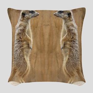 Meerkat Woven Throw Pillow
