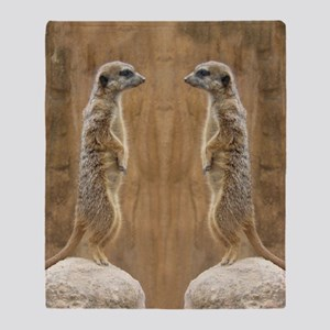 Meerkat Throw Blanket