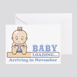 Arriving in November Greeting Card