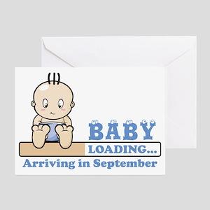 Arriving in September Greeting Card