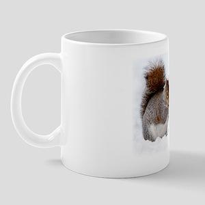 Squirrel in the snow Mug