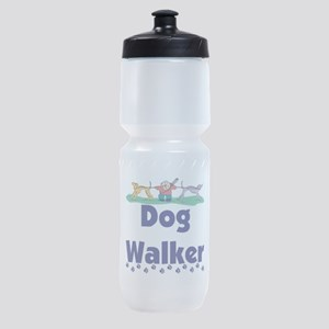 dog walker-3 Sports Bottle