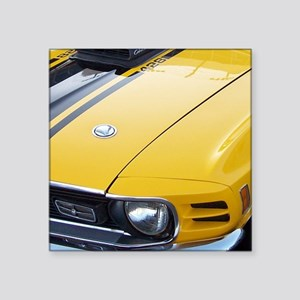 """Yellow Ford Mustang CobraJe Square Sticker 3"""" x 3"""""""
