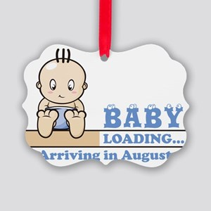 Arriving in August Picture Ornament