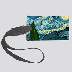 Van Goghs Cats Large Luggage Tag