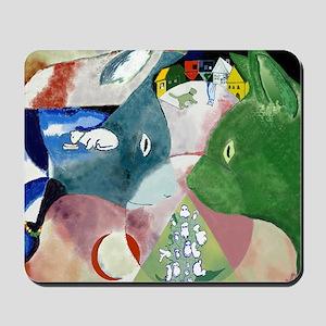 Chagalls Cats Mousepad