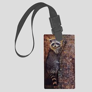 Raccoon Large Luggage Tag