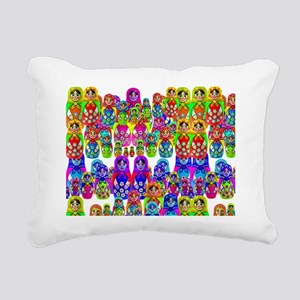 Russian dolls 5 horizi Rectangular Canvas Pillow