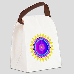 Sunflower Mandala shoulder bag Canvas Lunch Bag