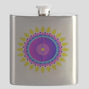 Sunflower Mandala shoulder bag Flask