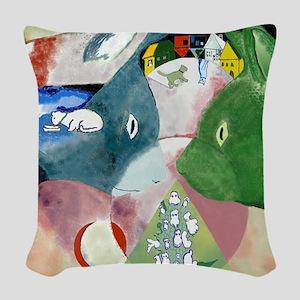 Chagalls Cats Woven Throw Pillow
