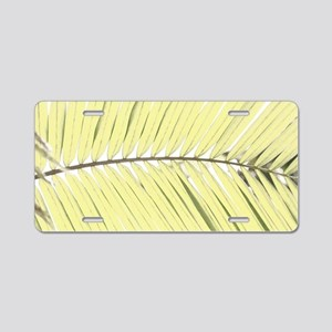 Palm leaf Aluminum License Plate