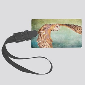 Barn Owl Large Luggage Tag