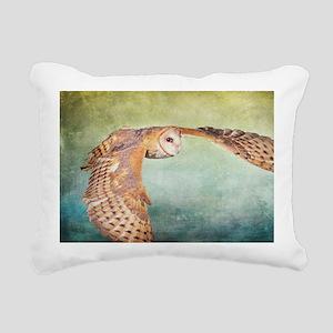 Barn Owl Rectangular Canvas Pillow