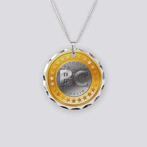 BitcoinEuro Necklace Circle Charm