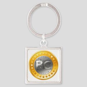 BitcoinEuro Square Keychain