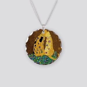Klimts Kats Necklace Circle Charm