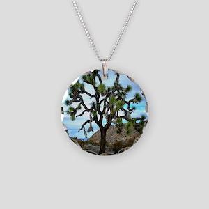 Joshua Tree Necklace Circle Charm