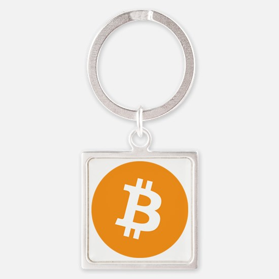 OriginalBitcoinLogo Square Keychain