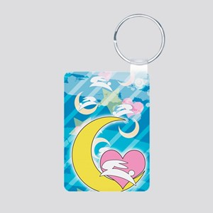 Moon Aluminum Photo Keychain