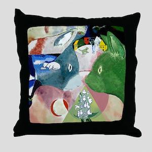 Chagalls Cats Throw Pillow