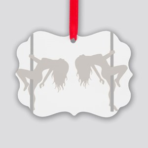 Pole Dancing Strippers Picture Ornament