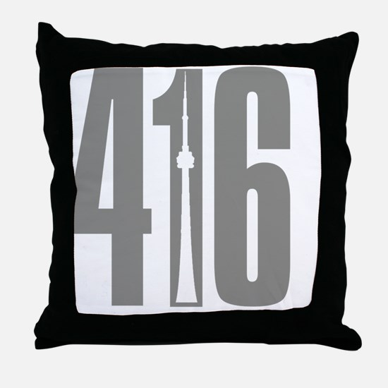 416 CN TOWER Gray Throw Pillow