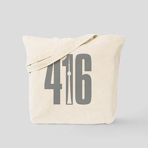 416 CN TOWER Gray Tote Bag