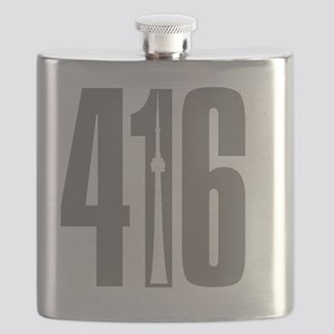 416 CN TOWER Gray Flask