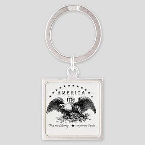 American Eagle Square Keychain