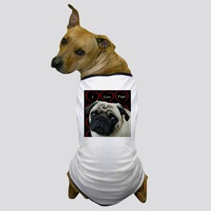 Cute I Love Pugs Dog T-Shirt