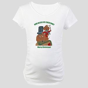Dachshund Tiny Tim Maternity T-Shirt