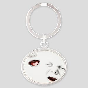baby-janus-PLLO Oval Keychain