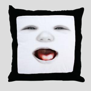 babyface3-laugh-DKT Throw Pillow