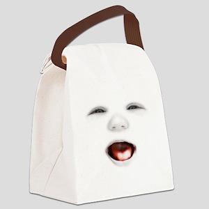 babyface3-laugh-DKT Canvas Lunch Bag